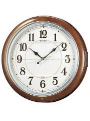 - 毎正時にメロディと文字盤が、開き中から人形が、左右に揺れるからくり時計- 毎正時にメロディ6曲が、順番に奏でながら文字盤が開き中から人形が、左右に揺れます。 デザインと機能 ●クォーツ(電波時計)プラスチック枠(茶マーブル模様塗装光沢仕上げ) ●HiFiメロディ・自動鳴止め(室内が暗い時)・音量調節・クリスタル飾り ●電池寿命約1年、単2アルカリ電池×4本 ●直径390mm×厚み97mm 重量2.9kg